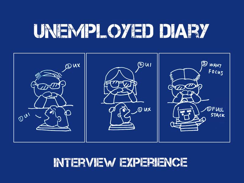 Unemployed diary:interview experience ui ux warm life reality sad designer illustration happy effyzhang diary manga comic desig cute