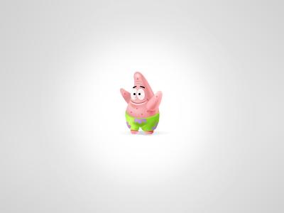 Little Patric  pink tiny cute icon toy ui detail mini sponge bob