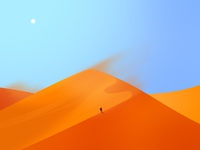 Lonely Traveler Illustration