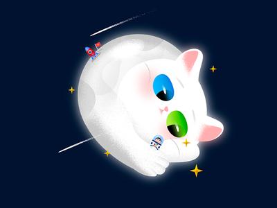 Galaxy Kitty : Moon