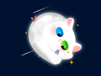 Galaxy Kitty : Moon