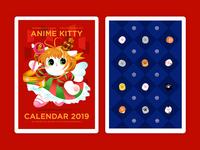 Anime Kitty Calendar Design (cover&backside)