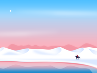 Under the China sky series illustration nature ui pantone landscape google color gradient flat effyzhang illustration