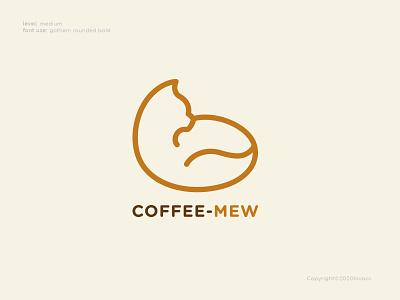 Coffee Mew Logo Concept cat logo cafe logo ui concept vector coffee cat illustration design logo branding