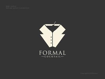 Formal Cocktail Logo Concept fashion formal icon vector ui design logo illustration branding