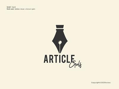 Article Golf Logo Concept golf club pen golf designers graphicdesign designer logoidea branding brand dailylogo customlogo logoconcept logoinspire logoinspiration logodesign logos logo