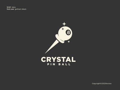 Crystal Pin Ball Logo Concept design graphic design designer logoidea illustrator brand identity branding dailylogo freelance customlogo logoconcept logoawesome logoinspirations logoinspiration logoinspire logodesigner logo design logos logo