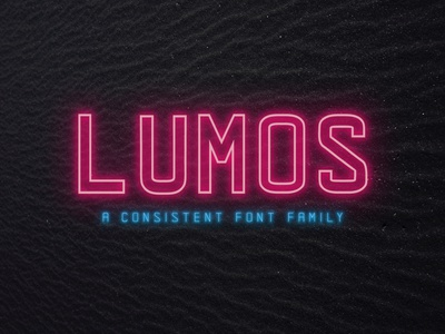 LUMOS - A Consistent Font Family branding advertising consistent modern light thin strong bold multilingual support stylish quotes lettered classy elegant title logo opentype sans serif sans font