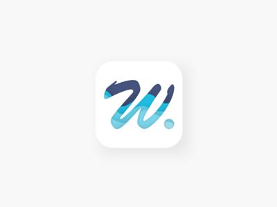 Daily UI Challenge #005 - App Icon blue icon app icon daily ui 005 005 typography logo ui design daily ui challange dailyui