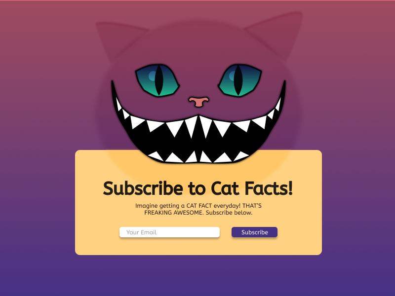 DailyUI#026 - Subscribe aliceinwonderland cat daily 100 25 025 illustration design ux ui figma dailyui