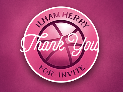 Thank You debuts dribbble shot invitation thank you appreciation lettering digital lettering typography typedesign