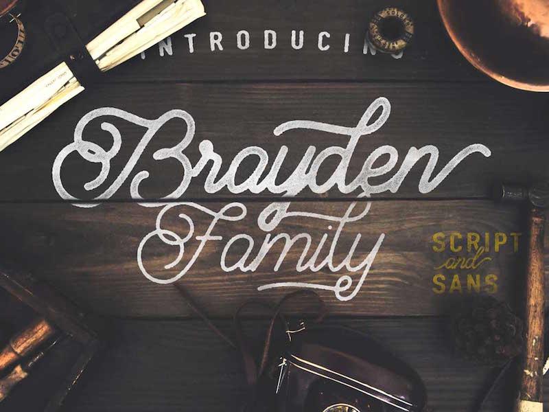 Brayden Family font fonts typeface lettering design vintage free fonts rustic swash old typography