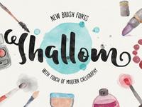Shallom Brush Font