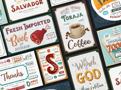 The Salvador - Triple Essence Combination fonts layered sign posters cards typedesign typeface typography combination fonts lettering handlettering
