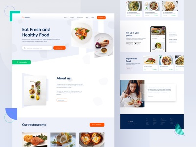 Food Delivery App Landing Page ui  ux rates style menu card template online booking website creative logo design landing page web design mobile app image food and drink drink restaurant eat delivery food