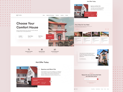 OwnHouse - Real Estate Landing Page architecture building real estate agent agency website real estate web ux ui abstract website trending design creative web design landing page design