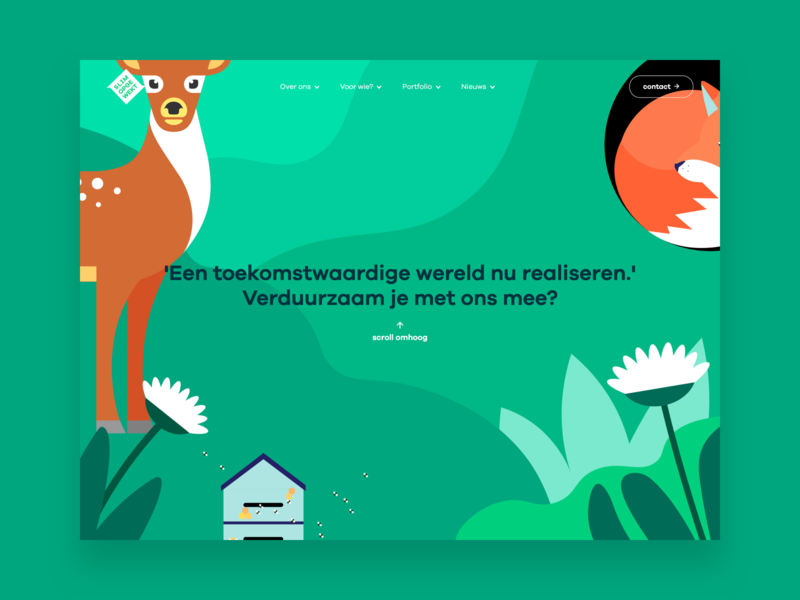 Slim Opgewekt - web design sustainable illustration web design wordpress website ux ui webdesign design
