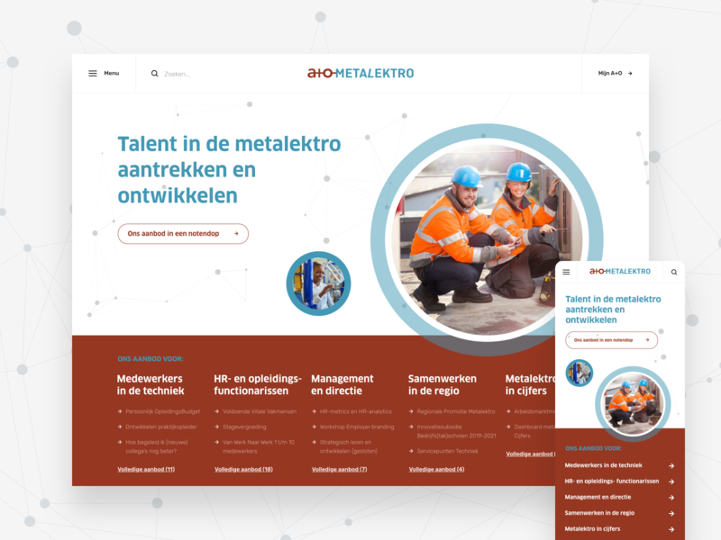 A+O Metalektro - web design web design wordpress ux ui design website webdesign