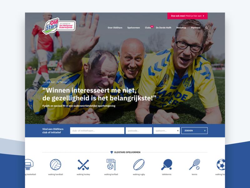 OldStars - Web design
