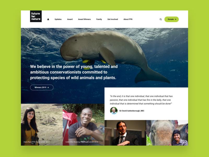 Future For Nature - web design