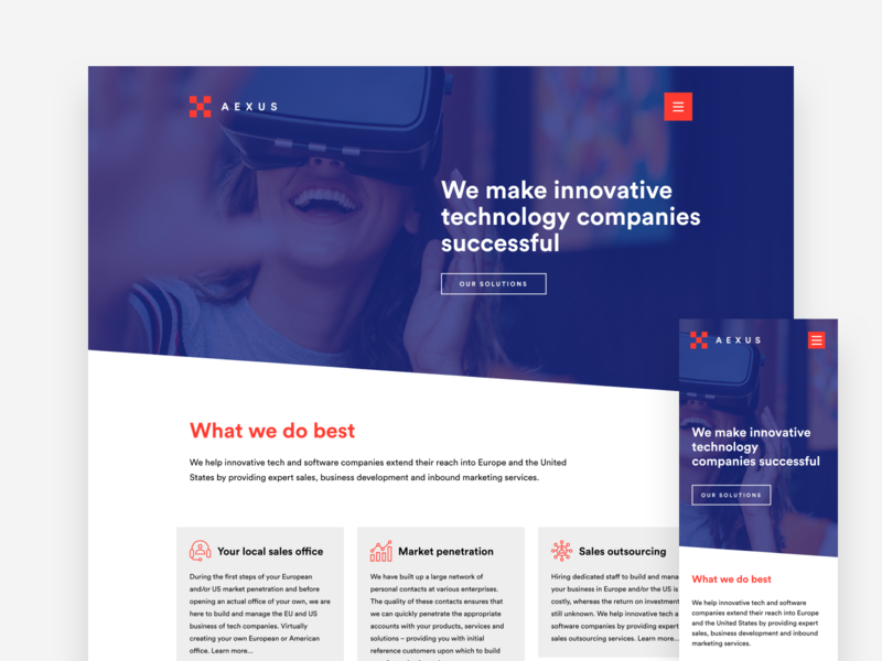 Aexus - corporate identity & web design branding identity logo wordpress webdesign website ux ui design