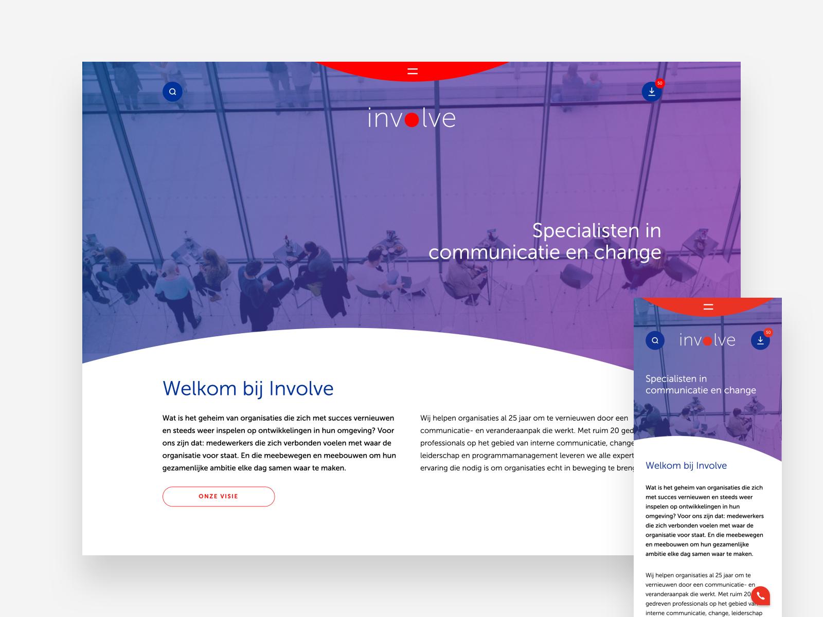Involve Corporate Identity Web Design By Bas Boerman On Dribbble