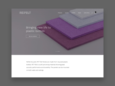 ReFelt - web design shop ecommerce web design ui ux design webdesign woocommerce webshop website
