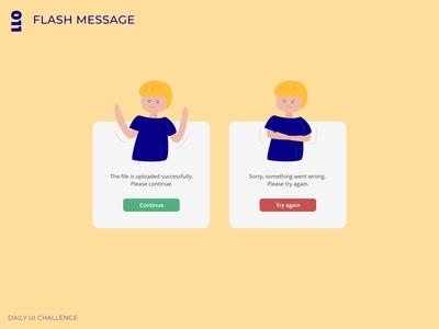 Daily UI Challenge - 011 - Flash Message