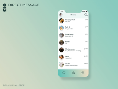 Daily UI Challenge - 013 - Direct Message