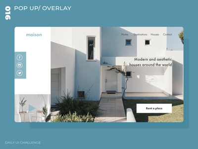 Daily UI Challenge - 016 - Pop up/ Overlay