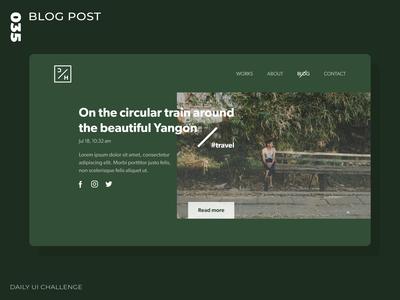 Daily UI Challenge - 035 - Blog Post