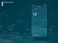Daily UI Challenge - 037 - Weather