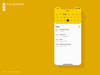 Daily UI Challenge - 038 - Calendar