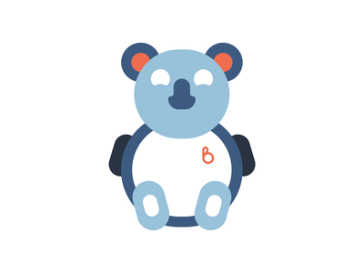 Lil TJ illustration vector branding bold minimal flat character animal bear koala bear koala