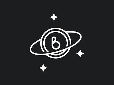 Space By Brice flat modern design cosmic stars planet space illustration vector branding minimal bold