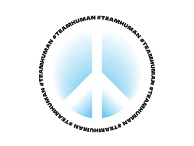 Team Human bold logo branding advertising product design typography 3d vector illustrator design graphic design peace