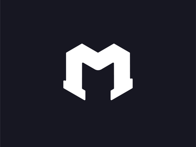 M Monogram Letter Logo monochrome typography modern bold minimal m logo logo letter monogram letter mark monogram logo monogram