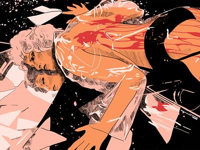 Running Away inking ink comics comic book illustraion bladerunner