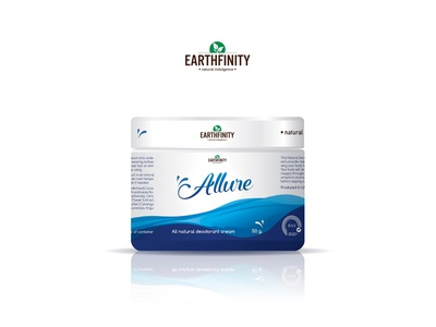 Allure - Natural Deodorant Cream natural cosmetic beauty cosmetic label package design packaging labels cream label cream deodorant deodorant cream allure label design typography minimalism