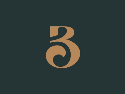 B3 - Monogram logo for sale b3 logo caligraphy 3b branding brand monogram design giletroja logo logo design typography clever minimalism