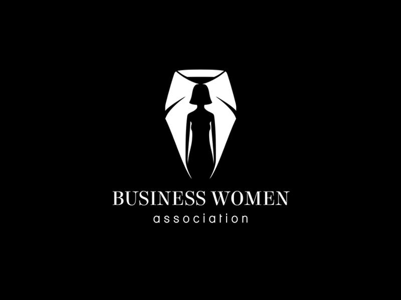 Business Women Association woman tie smart silhouette shirt minimalism logo clever businesswomen businessassociation business association