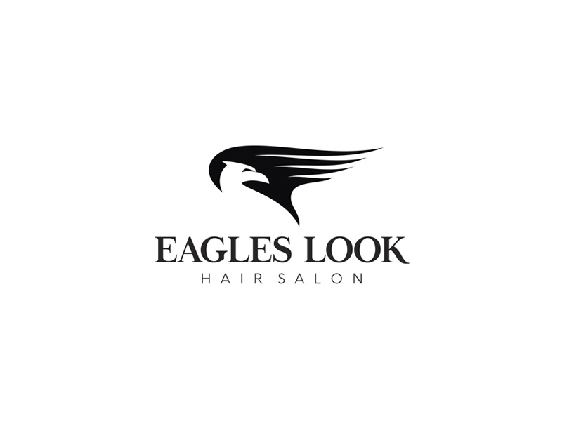 Eagles Look (Hair Salon) clever smart minimalism logodesign logo wing eagleswing hair hairstudio hairsalon look eagle