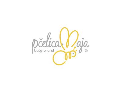 Pčelica Maja (Baby Brand) giletroja minimalism logodesign logo clothing babyclothing babybrand baby wings wingsofabee mayathebee bee