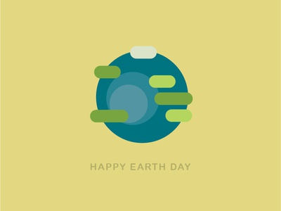 HAPPY EARTH DAY design vector illustration