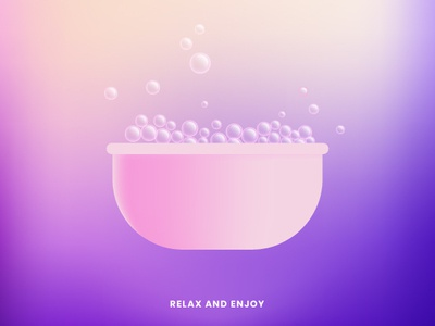 Relax and Enjoy marketing vector illustration design