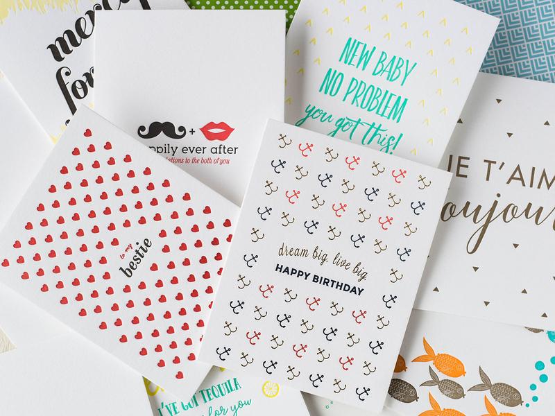 Letterpress Greeting Cards branding vector letterpress print design illustration