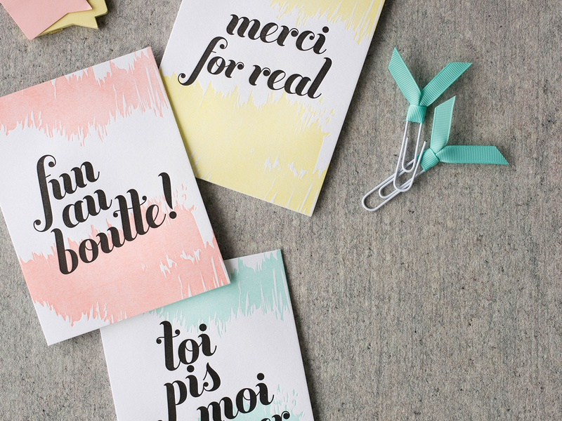 Letterpress FrAnglais / FrEnglish branding vector illustration design letterpress print