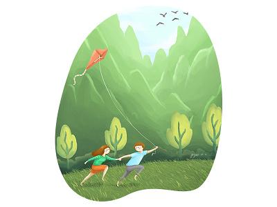 Run To Simplicity childrens book illustration illustration digital painting