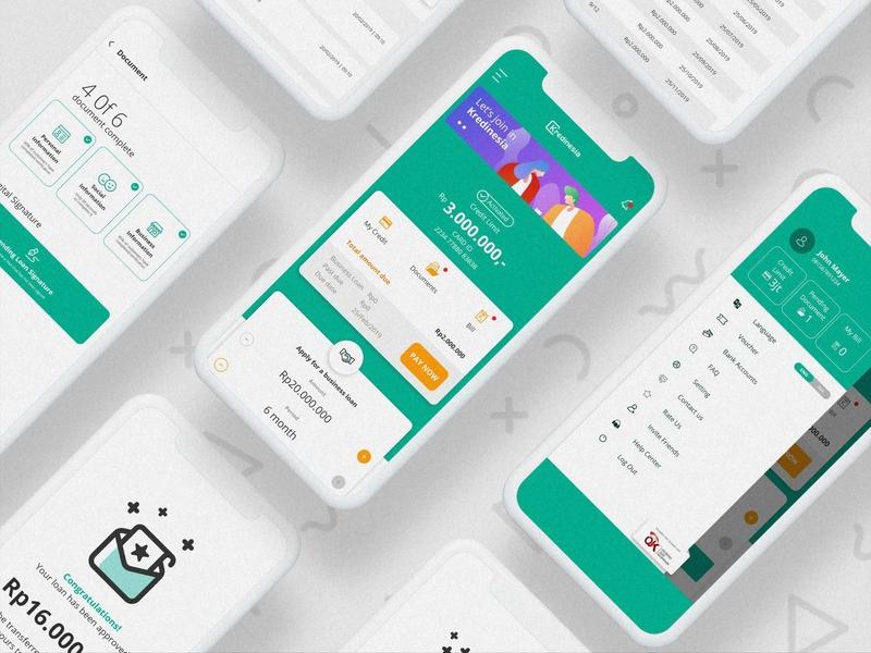 Kredinesia Ui Design app design uidesign uiuxdesign