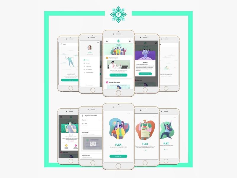 Flex App Ui Design fintech app design ui ux design ui